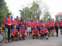 Skupinová fotka členov cykloturistiky klubov apollo